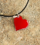 Enameled Heart Necklace - PinkLemonadeKLS
